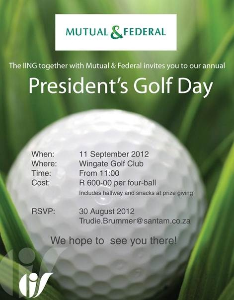 2012 Mutual & Federal IING Presidents Golf Day